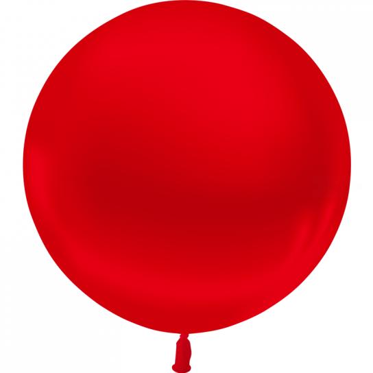 1 ballon 55 cm rouge métal
