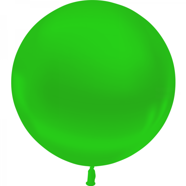 1 ballon 55cm vert metal