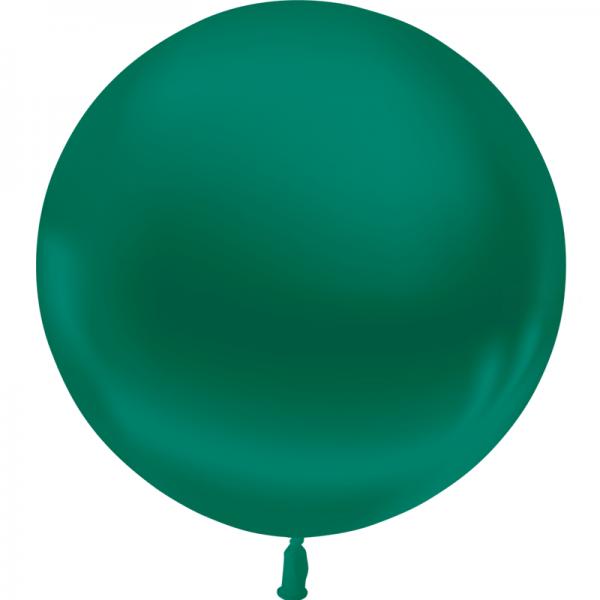 1 ballon 55cm vert foncé metal
