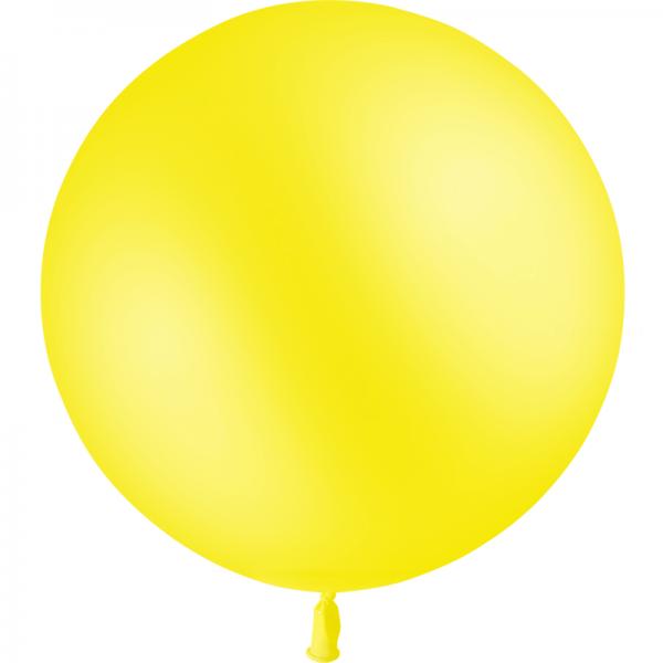 1 ballon jaune citron 60 cm