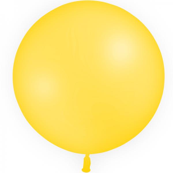 1 ballon jaune d'or 60 cm