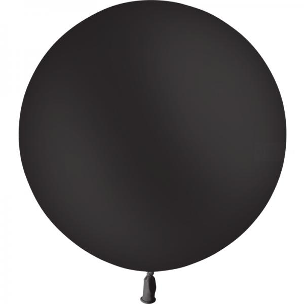 1 ballon noir 60 cm