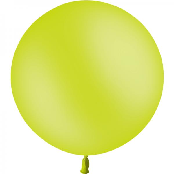 1 ballon vert anis 60 cm