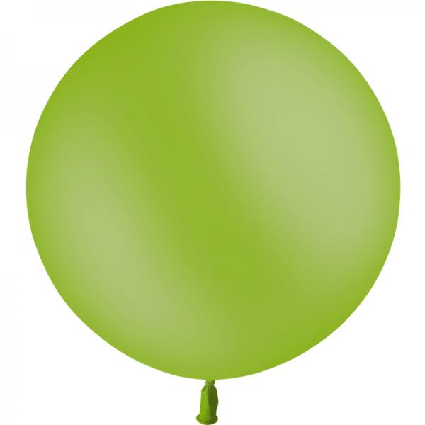 1 ballon vert pomme 60 cm