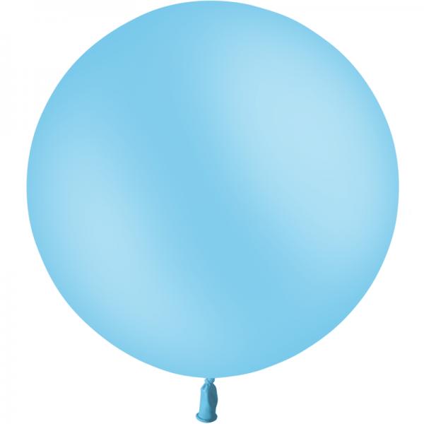 1 ballon baudruche 90 cm bleu ciel