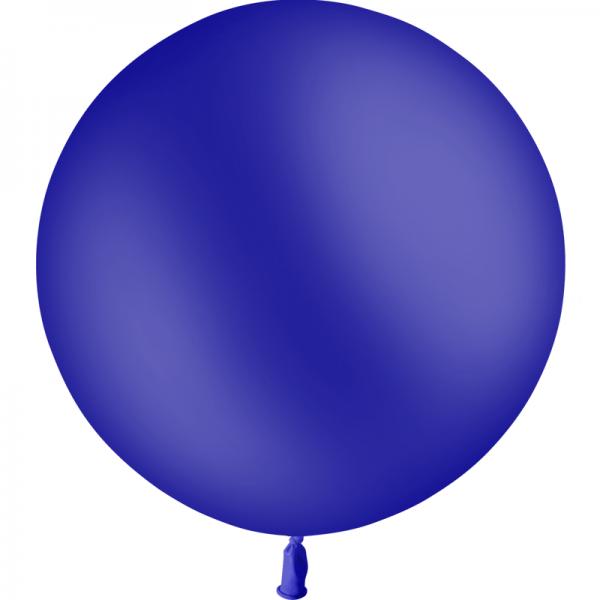 1 ballon baudruche 90 cm bleu marine