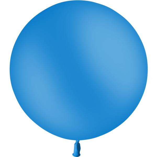 1 ballon baudruche 90 cm bleu roi