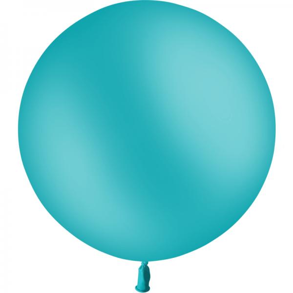 1 ballon baudruche 90 cm bleu turquoise