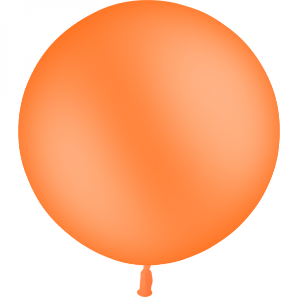 1 ballon baudruche 90 cm orange