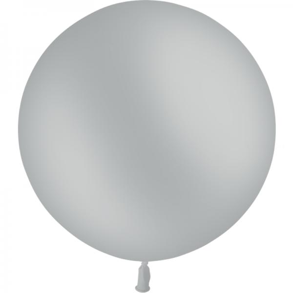 1 ballon gris opaque 90 cm