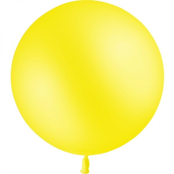 1 ballon latex jaune citron 90 cm