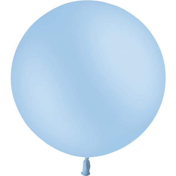 1 ballon bleu ciel pastel matte 90 cm