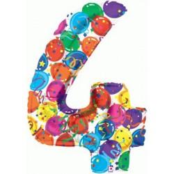 Chiffre festival color métal mylar 440multi4 BETALLIC Chiffres Festival Couleur (Gonflage Air Ou Et Helium)