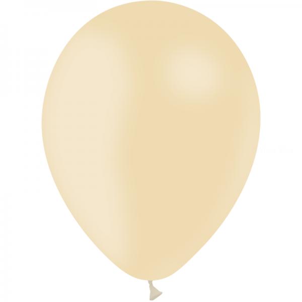 12 ballons ivoire opaque 28 cm