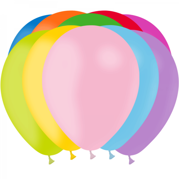 12 ballons assortis opaque 28 cm