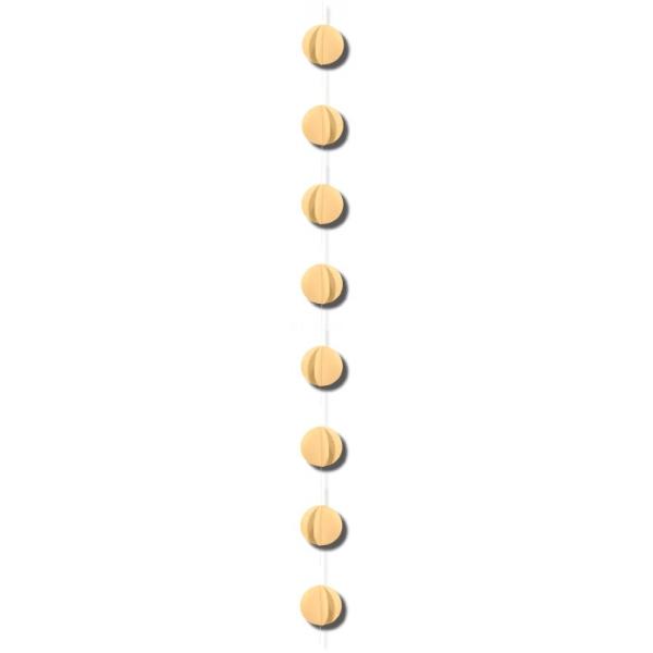 1 guirlande verticale crème 2m gros confettis papier 8cm