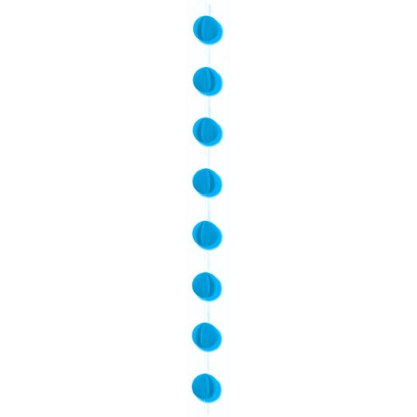 1 guirlande verticale ciel 2m gros confettis papier 8cm