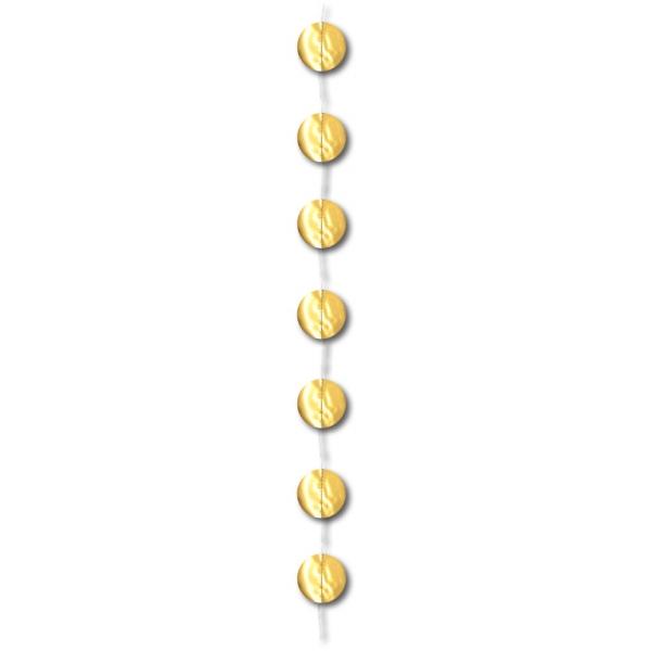 1 guirlande verticale or métal 2m gros confettis papier 6cm