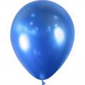 50 ballons Bleu effet miroir métal 28 cm