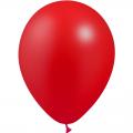 100 ballons rouge métal opaque 14 cm