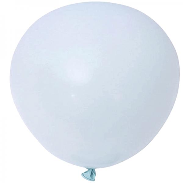 2 ballons rond macaron bleu 45 cm