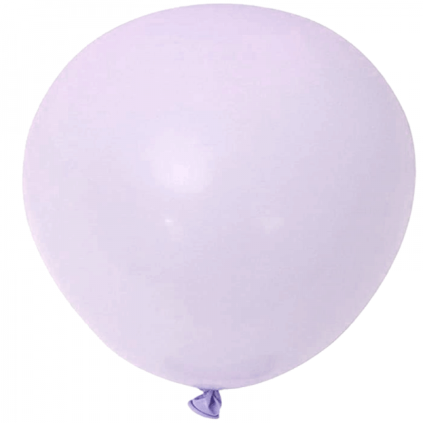 2 ballons rond macaron lilas 45 cm