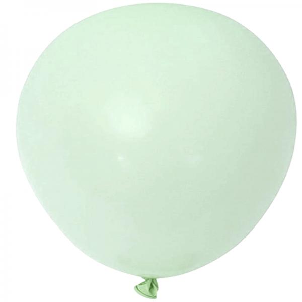 2 ballons rond macaron vert menthe 45 cm