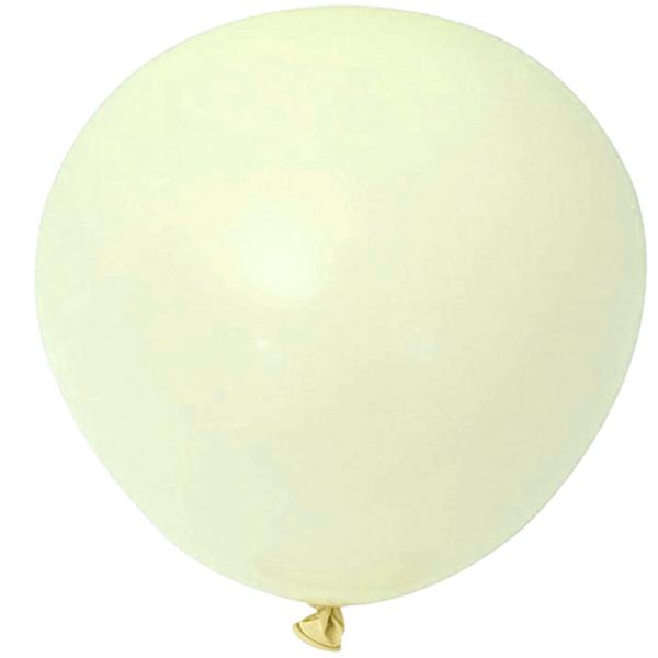 2 ballons rond macaron moutarde 45 cm