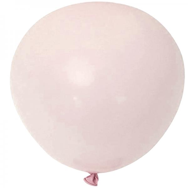 2 ballons rond macaron pêche 45 cm