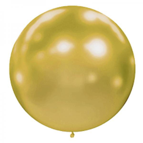 1 ballon effet miroir or 40 cm