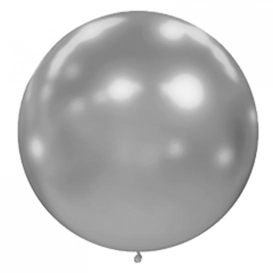 1 ballon effet miroir argent 40 cm