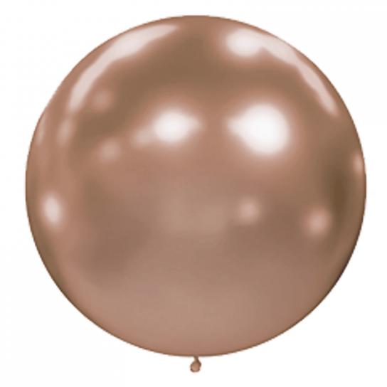 1 ballon effet miroir rose gold 40 cm