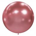 1 ballon effet miroir rose 40 cm
