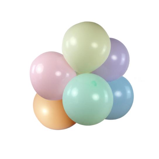 6 ballons rond macaron 45 cm
