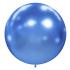 1 ballon effet miroir bleu 40 cm