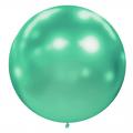 1 ballon effet miroir vert 40 cm