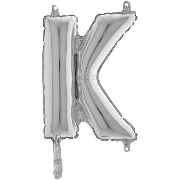 K lettre 35 cm mylar argent