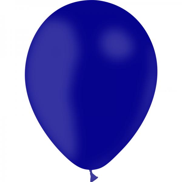 24 ballons bleu marine opaque 24 cm