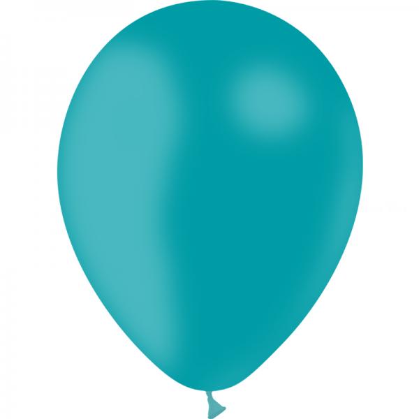 24 ballons bleu turquoise opaque 24 cm
