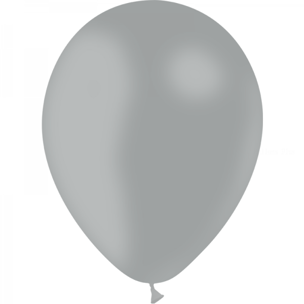 24 ballons gris opaque 24 cm