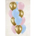 bouquet de 12 ballons 3 couleursmat et miroir