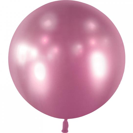 1 ballon effet miroir mauve 55 cm
