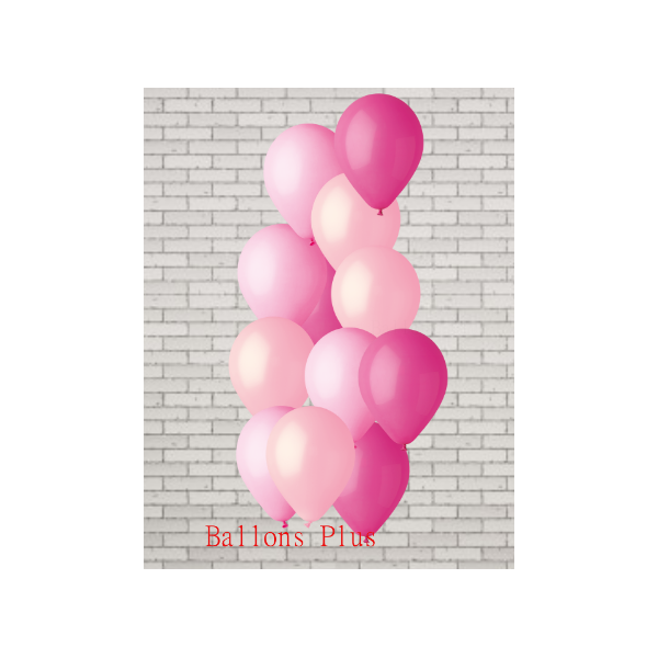 bouquet de 12 ballons 3 rose