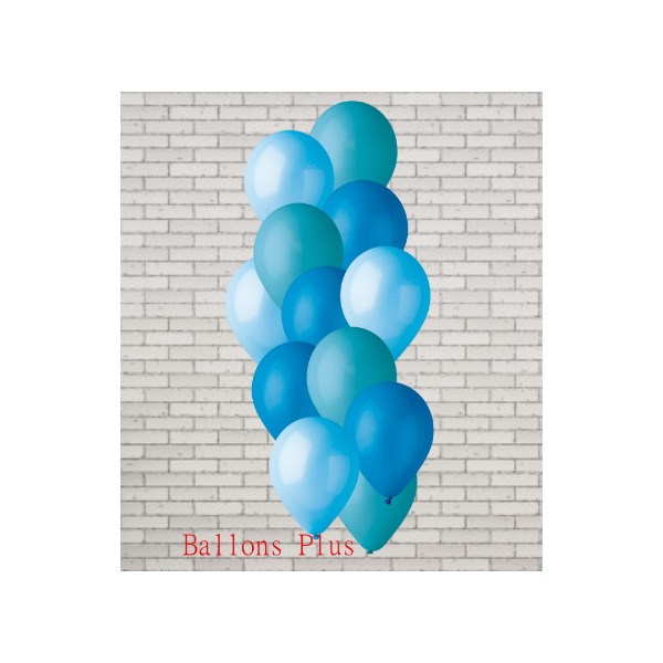bouquet de 12 ballons 3 bleu