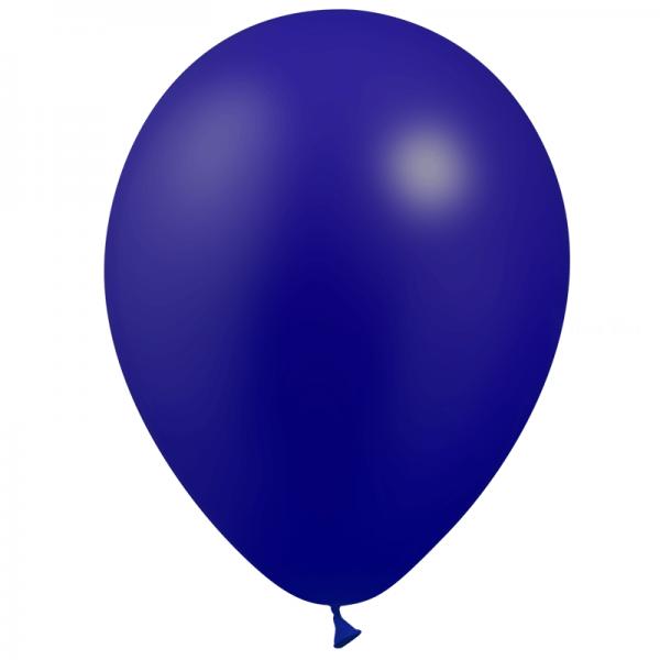 100 ballons bleu marine métal opaque 14 cm