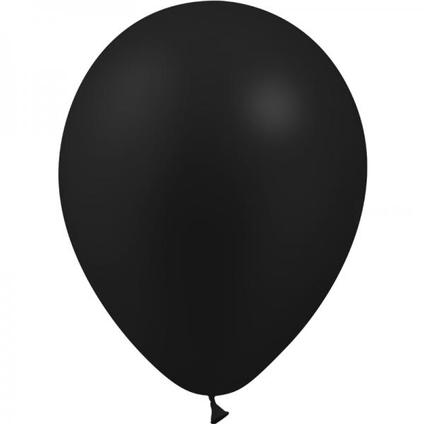 25 ballons noir métal opaque 14 cm