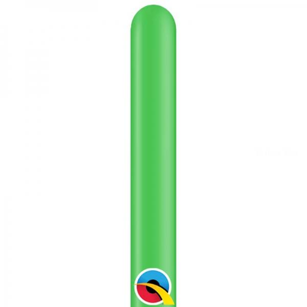100 ballons qualatex 260 carnaval opaque vert printemps