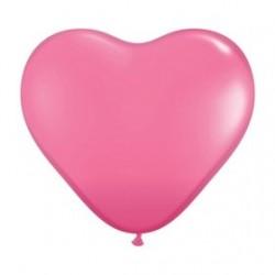 Coeur qualatex 15 cm rose mode POCHE DE 25
