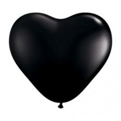100 Coeur qualatex 15 cm noirqualatex 60572 QUALATEX LES BALLONS COEURS DE 10 A 15 CM