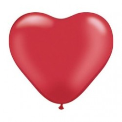 Coeur qualatex 28 cm rouge en poche de 25